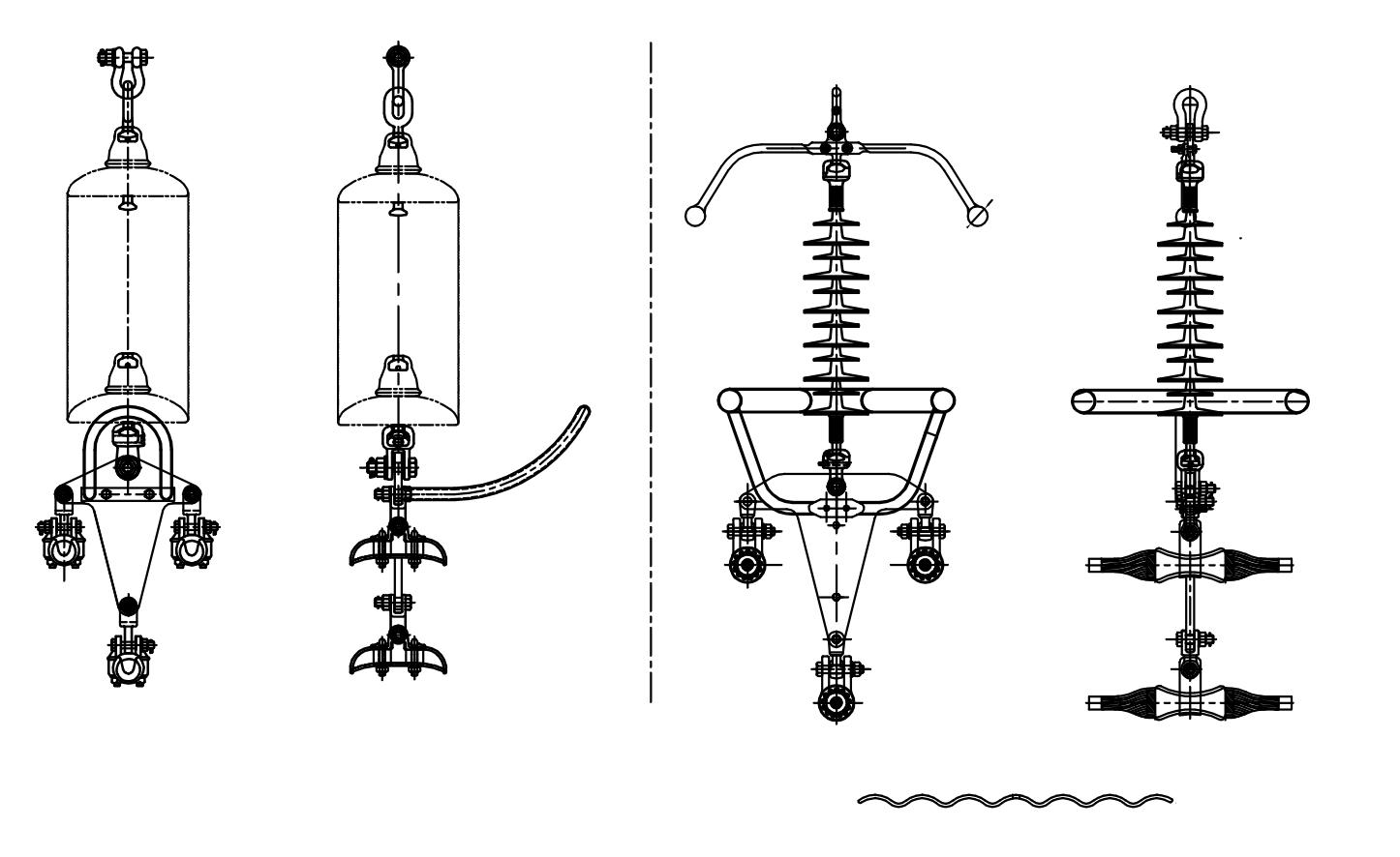 220kV 'I' – Suspension String Assembly for Triple Bundle Conductors